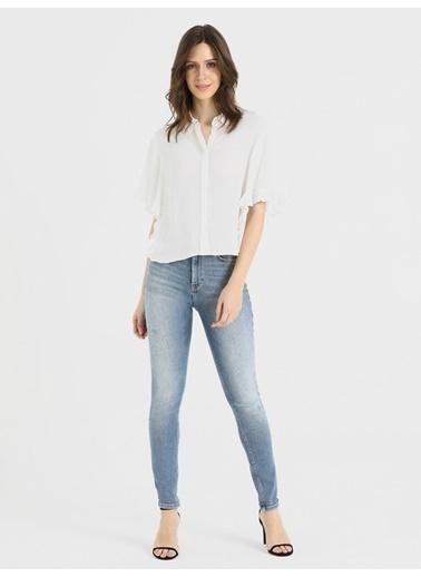 Loft Kısa Kollu Gömlek Beyaz